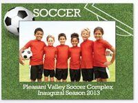 104035572-183 - Sports Soccer Large Photoframeables Wood Photo Frame Decal - thumbnail