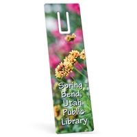 "174675701-183 - Full Color Biodegradable Rectangle Vinyl Plastic Bookmark w/ Slot (0.015"" Thick) - thumbnail"