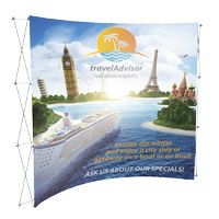 """195048377-183 - 8' Curved Fabric Display (90""""Wx89 1/2""""Hx24""""D) - thumbnail"""