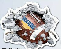 "563709384-183 - WallCrashers - Football White Vinyl Decals (22""x26 1/2"") - thumbnail"