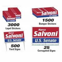 902535922-183 - Political Campaign Kit (500 Yard/ 25 Corrugated/ 1500 Bumper/ 3000 Lapel) - thumbnail