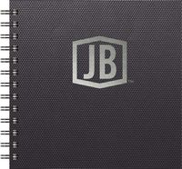"111398188-197 - Luxury Cover Series 4 - Square NotePad w/Black Paperboard Back Cover (7""x7"") - thumbnail"