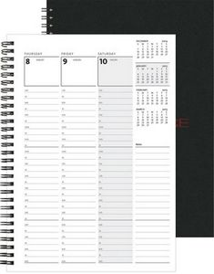 "743319089-197 - Weekly Organizer™ w/Leather Front & Chip Back (7""x10"") - thumbnail"