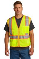 146377407-120 - CornerStone® ANSI 107 Class 2 Mesh Zippered Two-Tone Vest - thumbnail