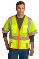 326377465-120 - CornerStone® ANSI 107 Class 3 Surveyor Mesh Zippered Two-Tone Short Sleeve Vest - thumbnail