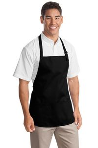 502091113-120 - Port Authority® Medium-Length Apron w/Pouch Pocket - thumbnail