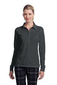 504015278-120 - Nike Golf Ladies' Long Sleeve Dri-FIT Stretch Tech Polo Shirt - thumbnail