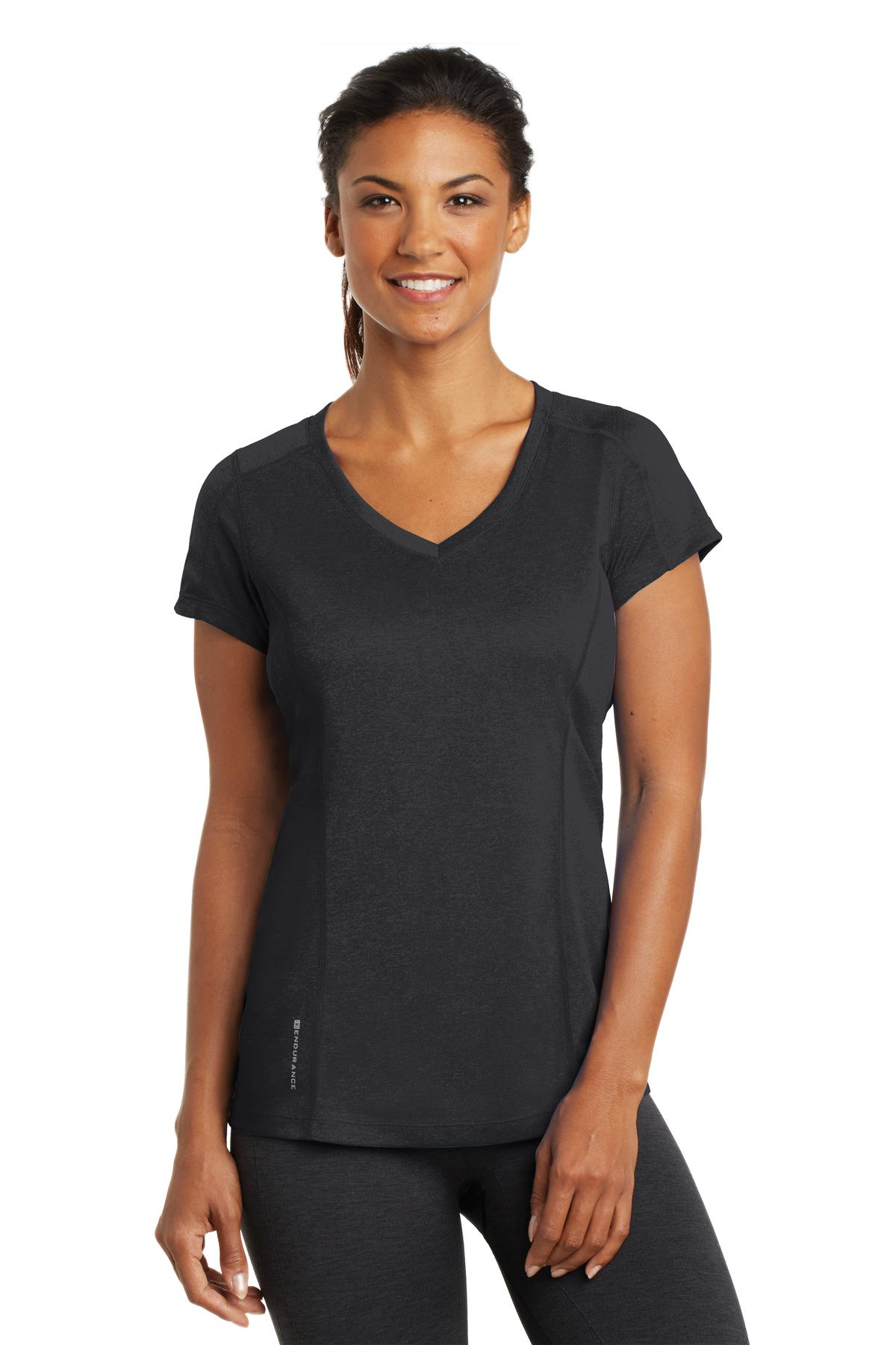 544691235-120 - OGIO® Endurance Ladies Pulse V-Neck Shirt - thumbnail