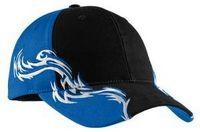 562153503-120 - Port Authority® Colorblock Racing Cap w/Flames - thumbnail