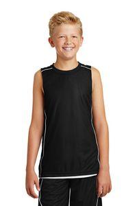 563921243-120 - Sport-Tek® Youth PosiCharge® Mesh Reversible Sleeveless Tee - thumbnail