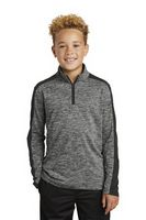 585970192-120 - Sport-Tek® Youth PosiCharge® Electric Heather Colorblock 1/4-Zip Pullover Sweatshirt - thumbnail