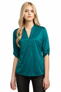773705991-120 - OGIO® Ladies' Crush Henley Shirt - thumbnail