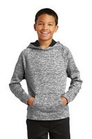 785297995-120 - Sport-Tek® Youth PosiCharge® Electric Heather Fleece Hooded Pullover Sweater - thumbnail