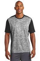955297889-120 - Sport-Tek® Men's PosiCharge® Electric Heather Colorblock Tee - thumbnail