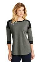 955491225-120 - New Era® Ladies' Heritage Blend 3/4-Sleeve Baseball Raglan Tee - thumbnail