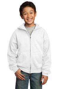 982792991-120 - Port & Company® Youth Core Fleece Full-Zip Hooded Sweatshirt - thumbnail