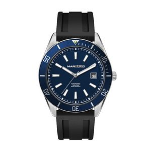 """156501815-184 - Wc8236 42mm Steel Silver Case, 3 Hand """"Automatic"""" Mvmt, Blue Dial, Dte Display, Bl Rotating Bezel, S - thumbnail"""