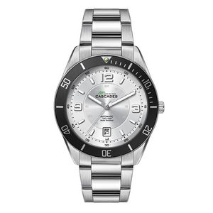 """356501818-184 - Wc8242 42mm Steel Silver Case, 3 Hand """"Automatic"""" Mvmt, Silver Dial, Dte Display, Bk Rotating Bezel, - thumbnail"""