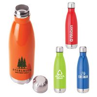365129847-184 - Solana 17 oz. 304 Stainless Steel Vacuum Bottle with Copper Lining - thumbnail