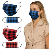 506419494-184 - Shield V Box of 50pcs Plaid Disposable Face Masks - thumbnail
