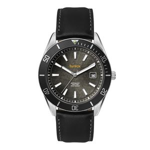 """556501816-184 - Wc8238 42mm Steel Silver Case, 3 Hand """"Automatic"""" Mvmt, Black Dial, Dte Display, Bk Rotating Bezel,  - thumbnail"""