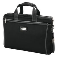 725815235-184 - Forli Throw Leather/Nylon Briefcase - thumbnail