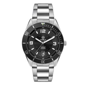 """756501819-184 - Wc8244 42mm Steel Silver Case, 3 Hand """"Automatic"""" Mvmt, Black Dial, Dte Display, Bk Rotating Bezel,  - thumbnail"""
