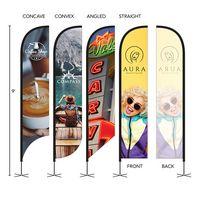766252606-184 - DisplaySplash 9' Single-Sided Custom Feather Flag - thumbnail