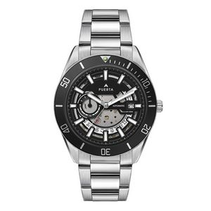 "956501817-184 - Wc8240 42mm Steel Silver Case, 3 Hand ""Automatic"" Mvmt, See Through Dial, Dte Display, Bk Rotating B - thumbnail"