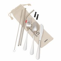 986188790-184 - Perka Castellana 6-Piece Steel Straw & Utensil Set - thumbnail