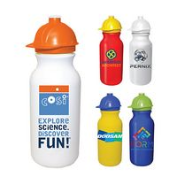 145511647-819 - 20 Oz. Value Cycle Bottle w/ Safety Helmet Push 'n Pull Cap, Full Color Digital - thumbnail
