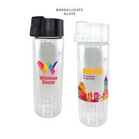 315816556-819 - 20 oz. Durable Clear Glass Bottle with Flip Top Lid, Full Color Digital - thumbnail