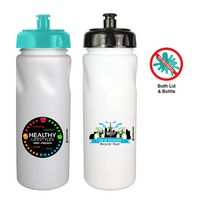 506346733-819 - 24 oz. Antimicrobial Cycle Bottle with Push 'N Pull Cap, Full Color Digital - thumbnail