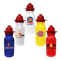 535343274-819 - 20 Oz. Value Cycle Bottle w/ Fireman Helmet Push 'n Pull Cap (Full Color Digital) - thumbnail