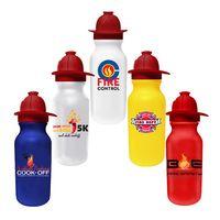 535343274-819 - 20 Oz. Value Cycle Bottle w/ Fireman Helmet Push 'n Pull Cap (Full Color Digital) - thumbnail