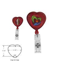 712868030-819 - Heart Shaped Retractable Badge Holder (Full Color Digital) - thumbnail