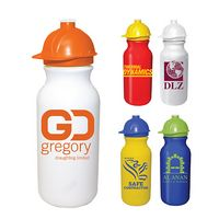 745511646-819 - 20 Oz. Value Cycle Bottle w/ Safety Helmet Push 'n Pull Cap - thumbnail