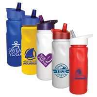 926187884-819 - 24 Oz. Cycle Bottle with Straw Cap Lid - thumbnail
