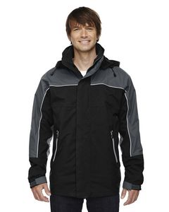 114579058-132 - NORTH END Adult 3-in-1 Seam-Sealed Mid-Length Jacket with Piping - thumbnail