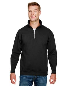 115810216-132 - BAYSIDE Unisex 9.5 oz., 80/20 Quarter-Zip Pullover Sweatshirt - thumbnail