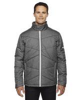 564612263-132 - North End Sport® Blue Men's Avant Tech Melange Insulated Jacket w/Heat Reflect Technology - thumbnail