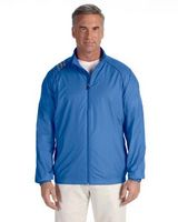 585109189-132 - adidas® Golf Men's 3 Stripes Full-Zip Wind Shirt - thumbnail