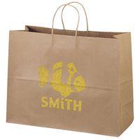 356487266-185 - Eco Vogue Kraft-Brown Shopper Bag (Brilliance- Special Finish) - thumbnail