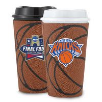 145369588-202 - 16 Oz. Single Wall Tumbler W/Basketball Sleeve - thumbnail