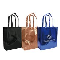 "365538816-202 - Metallic Tote Bag 12""W x 13.7""H x 5.5""G - thumbnail"