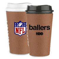 565278043-202 - Grande Tumbler - 16 oz single wall tumbler With Football Sleeve - thumbnail