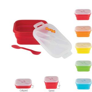573866175-202 - Gourmet Collapsible Silicone Lunch Box Container 5 x 7.5 - thumbnail