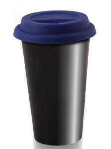 716233049-202 - 10 Oz. I Am Not A Plastic Cup Double Wall Black Ceramic Tumbler - thumbnail