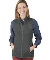 115272156-141 - Women's Pacific Heathered Fleece Vest - thumbnail