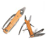 384421031-114 - Kikkerland® Wooden Pliers Multi Tool - thumbnail